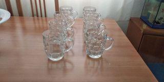 jarras y copas de helado de cristal