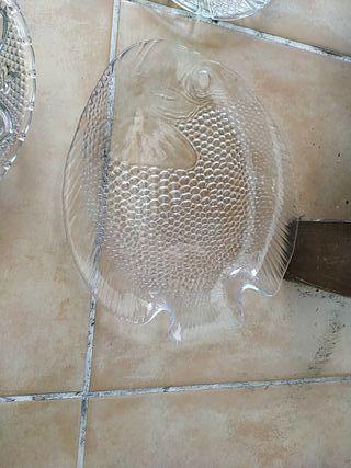 conjunto platos decorados Cristal transparente
