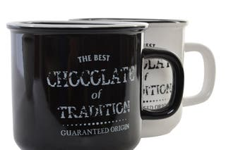 Taza cerámica vintage chocolate