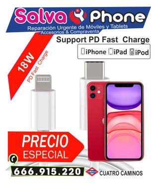 Cargador rápido para iPhone de 18 W