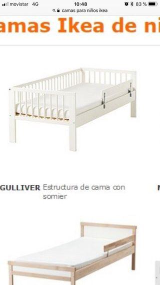 cama infantil ikea, colchón latex convertible sofá