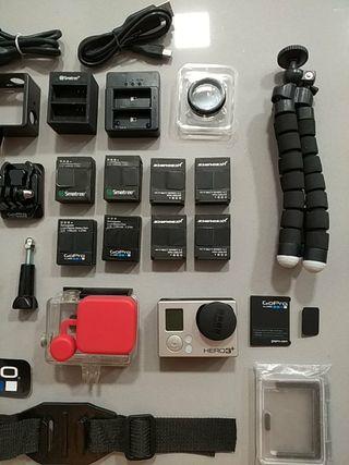 GoPro Hero 3+ black edition + accessorios