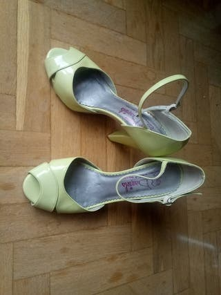 zapatos 36 verde