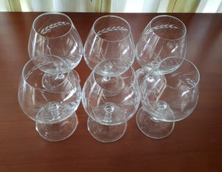 6 copas de coñac (ver fotos).