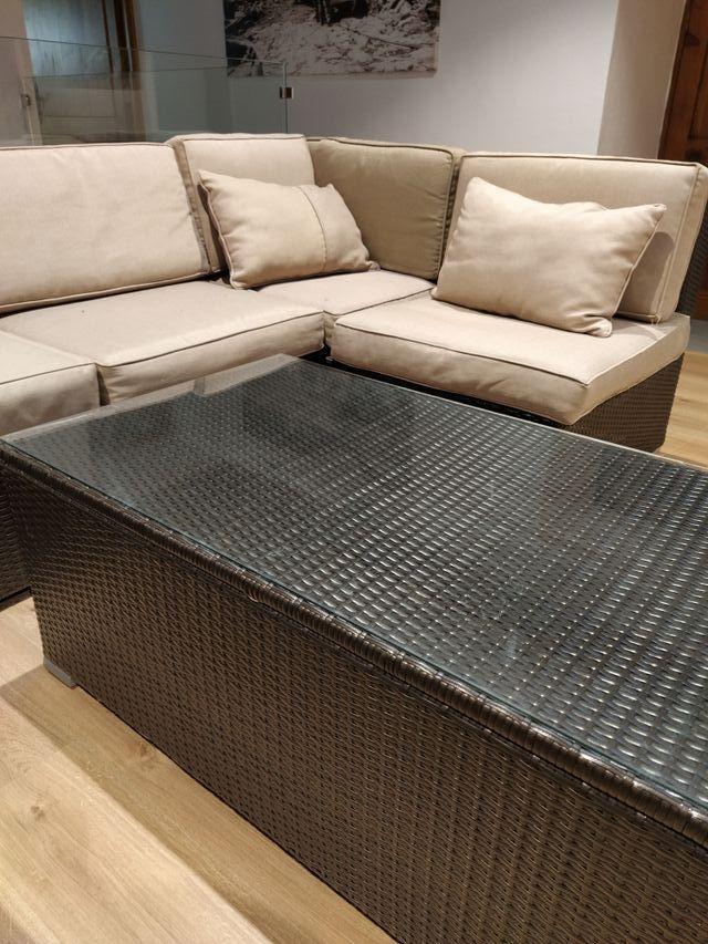 Sofá mueble jardín modular