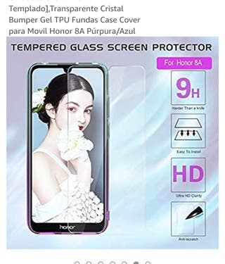 Protector Vidrio Templado Honor 8A