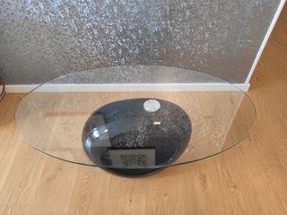 Mesa de centro cristal diseño