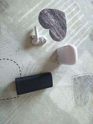 auriculares bluetooth + batería externa Huawei