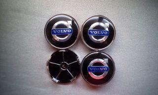 Tapabujes centro rueda Volvo negro azul 68mm