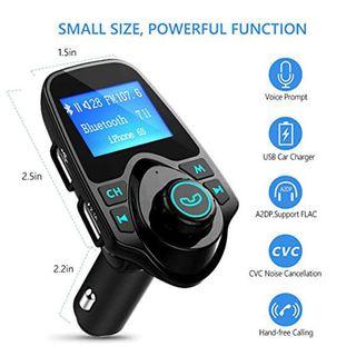 Manos Libres Bluetooth Transmisor FM Coche