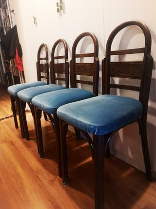 4 sillas antiguas