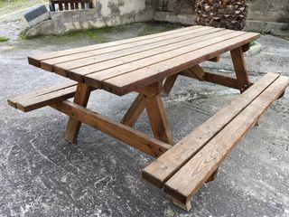 Mesa madera picnic