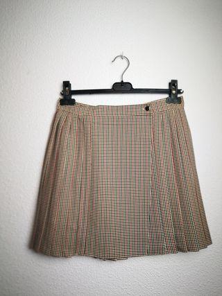 falda cuadros plisada