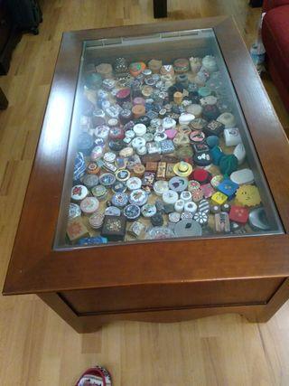 Mesa de Centro de madera maciza y cristal