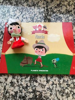 Cuento Pinocho con marioneta de dedo
