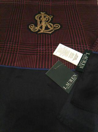 Fular Ralph Lauren con etiquetas 100% seda