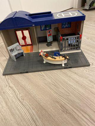 Comisaría maletin playmobil