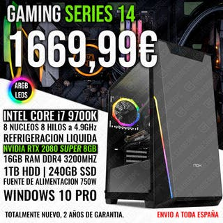 PC GAMING ORDENADOR I7 9700K RTX 2080 SUPER 16GB