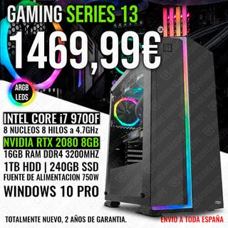 PC GAMING ORDENADOR I7 9700 RTX 2080 16GB RAM