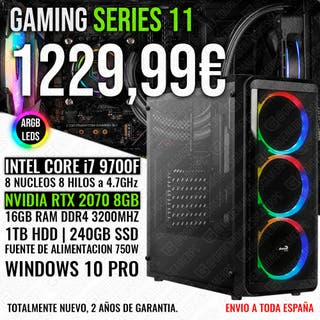 PC GAMING ORDENADOR I7 9700 RTX 2070 16GB RAM
