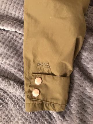 khaki regatta rain coat