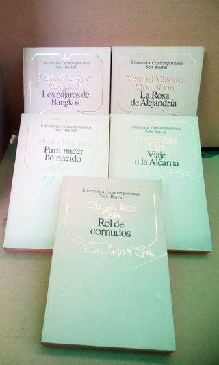 Lote de libros de literatura contemporanea
