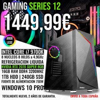 PC GAMING ORDENADOR I7 9700K RTX 2070 SUPER 16GB