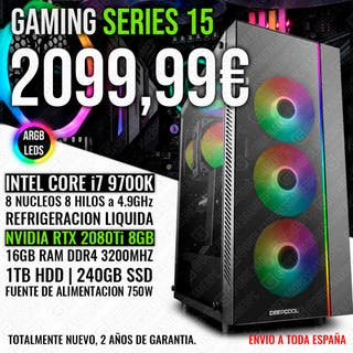 PC GAMING ORDENADOR I7 9700K RTX 2080TI 16GB
