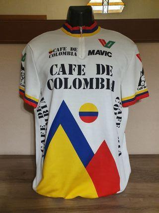 Antiguo maillot de ciclismo Café de Colombia
