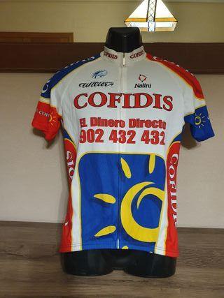 Maillot ciclismo antiguo equipo Cofidis