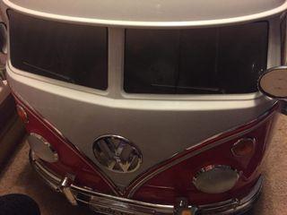 Red electric campervan