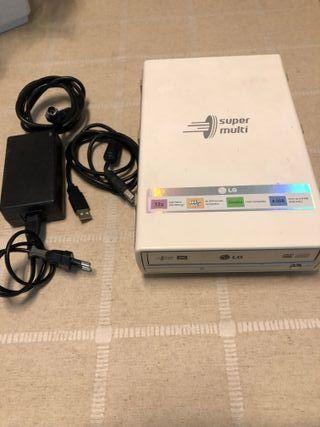 Unidad Externa LG de CD DVD Lector USB Portátil