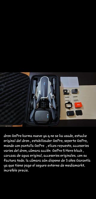 dron gopro con todos los accesorio