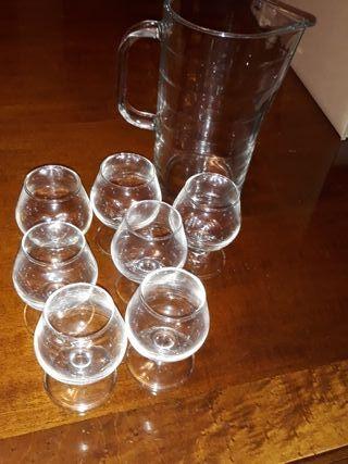 7 copas de licor