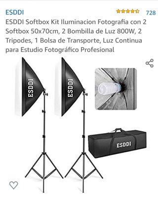 2×(ESDDI) Foco de fotografía y vídeo (Softbox)
