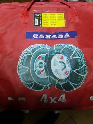 Cadenas para la nieve para vehículo 4x4