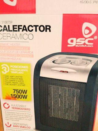 Calefactor Ceramico 750W - 1500W