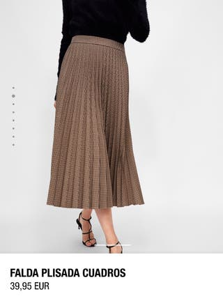 Falda plisada cuadros