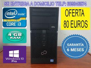 ORDENADOR INTEL CORE i3 CON 4 GB RAM 250 GB HDD