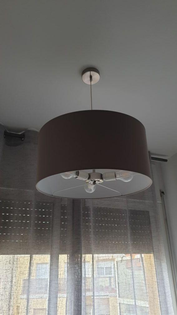 Lámpara de techo colgante gris