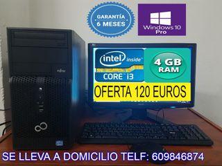 ORDENADOR COMPLETO CORE i3 CON 4 GB RAM 250 GB HDD
