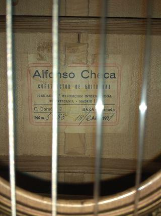 Guitarra Alfonso Checa Baza.