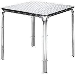 mesas grandes cuadradas aluminio