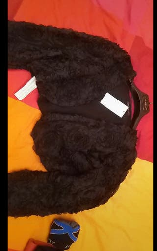 chaqueta de fiesta negra Mango