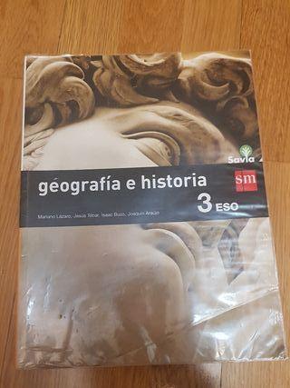 libro texto geografía e historia 3 E.S.O