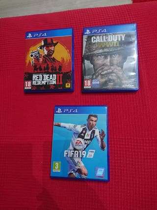 call of duty, fifa 19, Red dead redemption