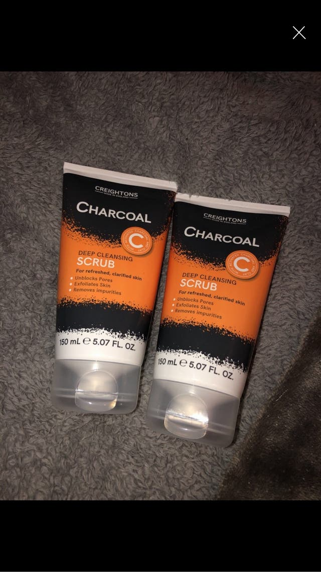 2 Charcoal cleaning scrubs