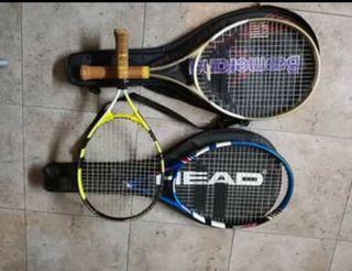 Raquetas tenis juveniles 3 dos fundas
