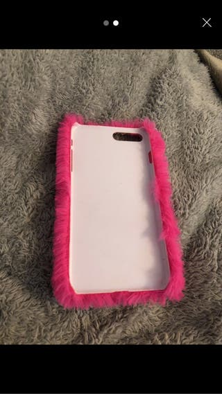 Pink fluffy iPhone case