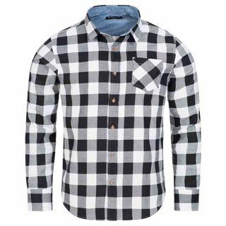 BRAVE SOUL Camisa de manga larga para hombre